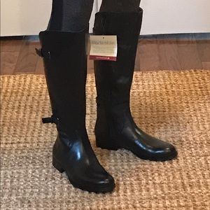 Jamison-Black leather boots